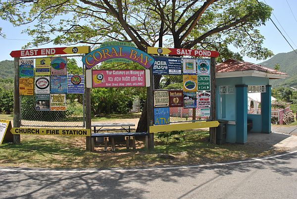 Signs for Coral Bay St John